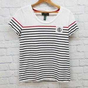 LRL Ralph Lauren Active Black White T Shirt L